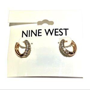 3/$25 Niine West Gold Tone Studded Small Earrings